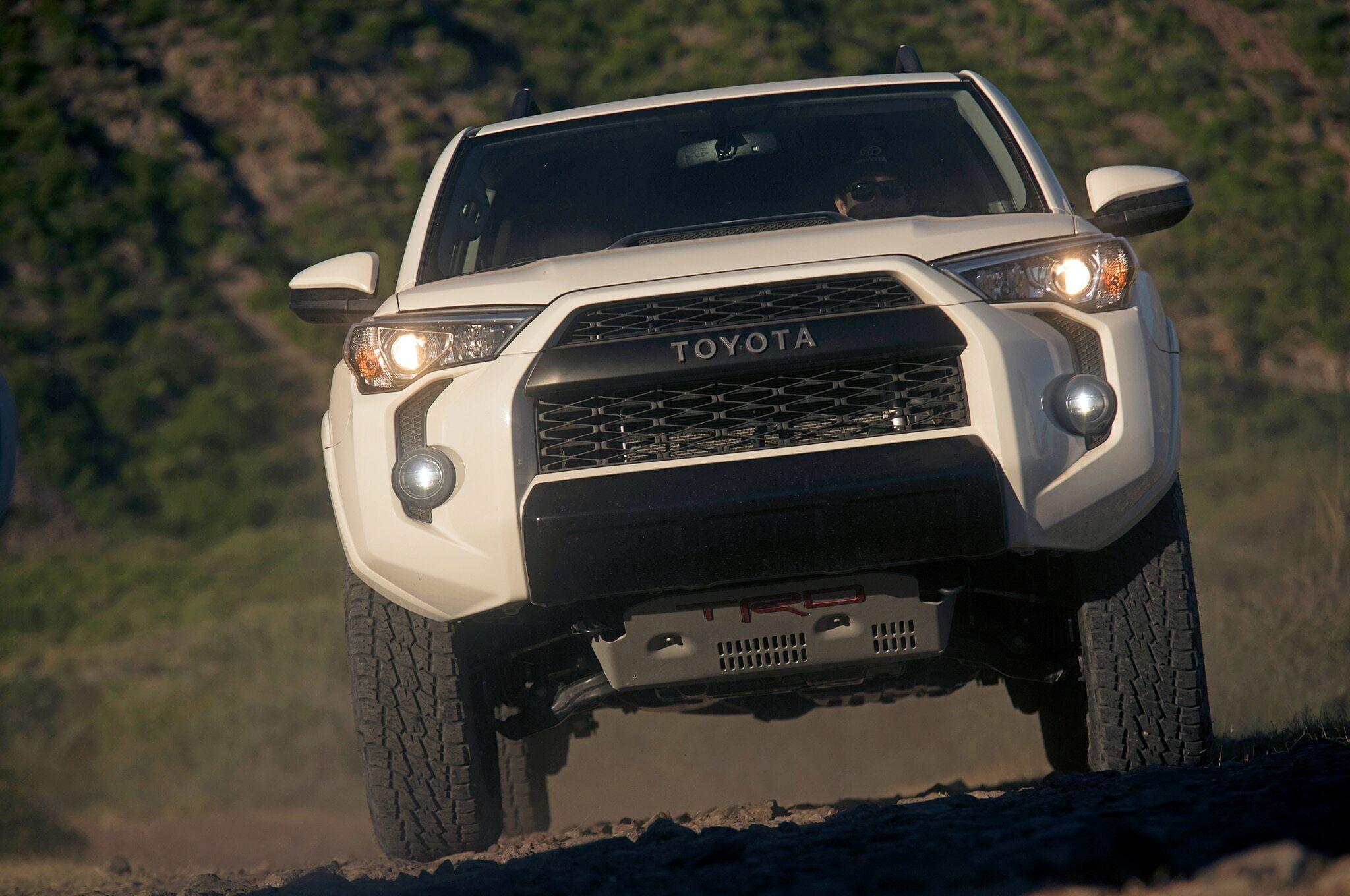 2019-Toyota-4Runner-TRD-Pro-front-in-motion
