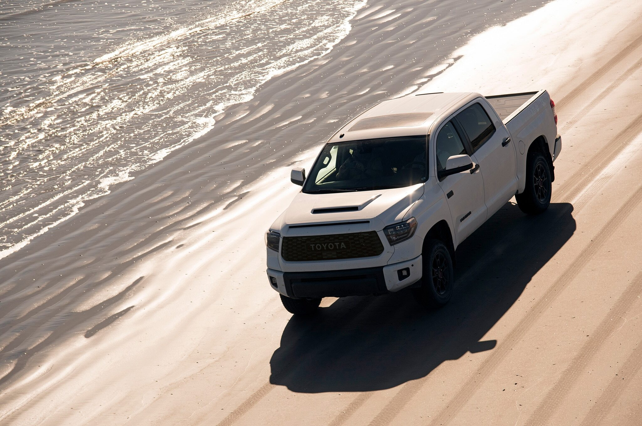 2019-Toyota-Tundra-TRD-Pro-front-three-quarter-in-motion-01