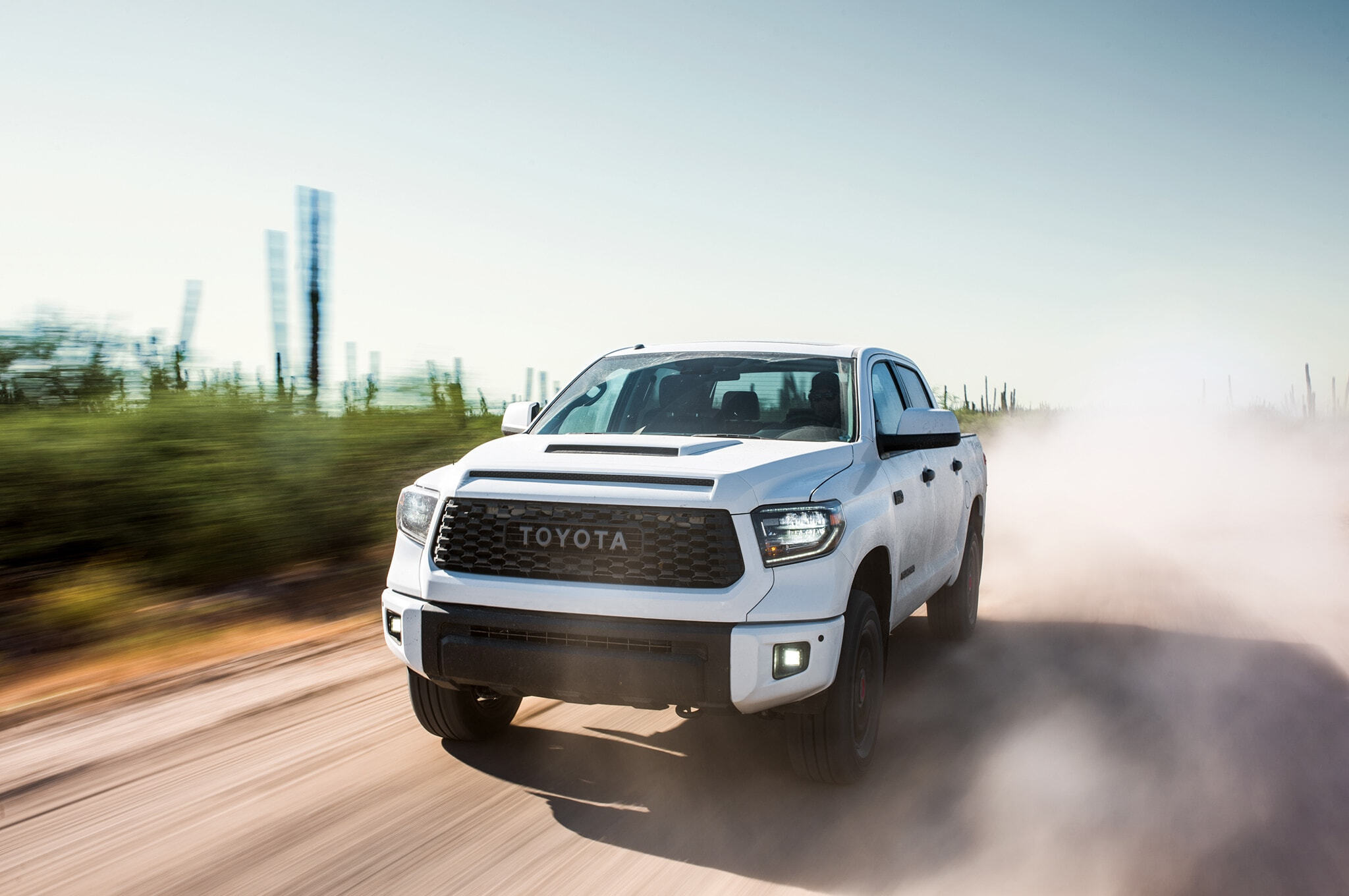 2019-Toyota-Tundra-TRD-Pro-front-three-quarter-in-motion-03