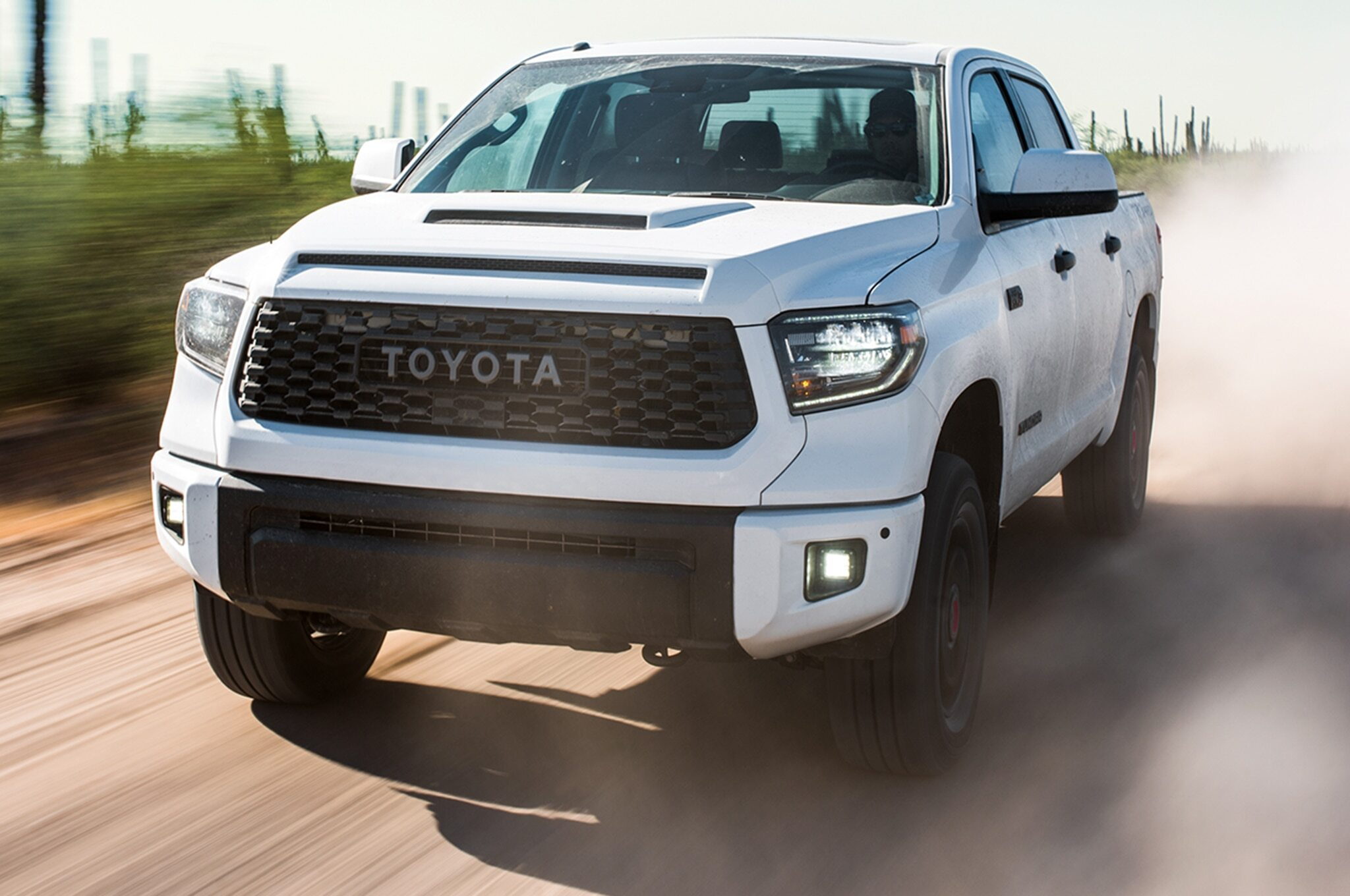 2019-Toyota-Tundra-TRD-Pro-front-three-quarter-in-motion-04